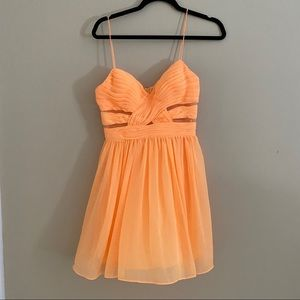 Arden B Neon Orange Babydoll Dress Small